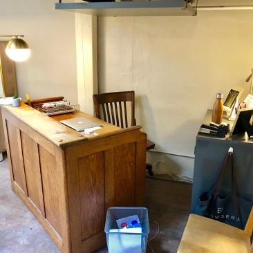A clean, reachable desk